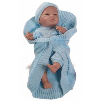 Бэби с голубым одеялом, 45см